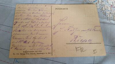 Weltkrieg 1914/15 Inneres der Kirche Leintrey Ak Postkarte 13308 2