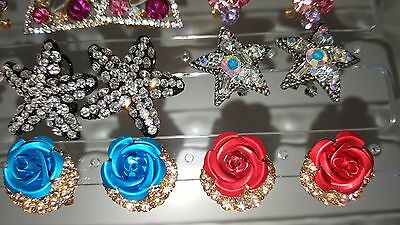 Joblot of 18Pairs Mixed Design Sparkly Diamante stud Earrings-NEW Wholesale lot3 7