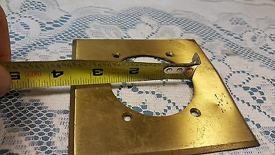 "Vintage Harvey Hubbell 4 1/2"" Brass Wall Plate 2 3/8"" hole 5"