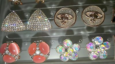 Joblot of 18Pairs Mixed Design Sparkly Diamante stud Earrings-NEW Wholesale lot3 8