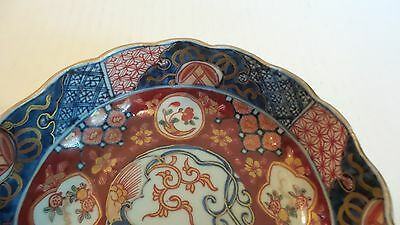 "NICE 19th C. ANTIQUE JAPANESE IMARI 6"" BOWL, MEIJI PERIOD,  c. 1868-1913, SIGNED 5"