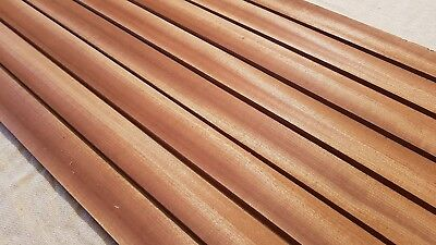 African Mahogany / Sapele Boat Deck Solid Wood Slats - Multiple Sizes - 15Mm 2
