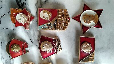 Set of 35 Original Russian RKKA VLKSM WW2 Badge USSR Red Star Soviet Lenin 6