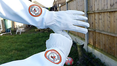 Beekeeper Bee Gloves Beekeeping gloves Goat skin Leather & 100% Cotton SMALL 2