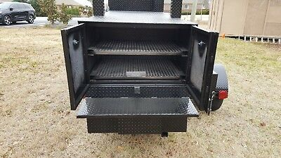 Road House BBQ Pro Smoker Grill Trailer Food Mobile Catering Business Barn Doors