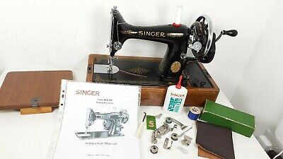 Semi-Industrial Singer 99K Handcrank Sewing Machine, NEWLY SERVICED,sews LEATHER 2