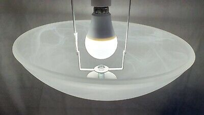Pack of 2 x Bargain Marble Effect White Glass Ceiling Shade Traditional Alabaster Frosted