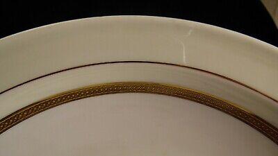 Plat rond creux en porcelaine de Limoges UC blanc et or dorure 3
