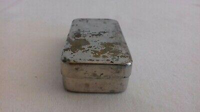 Seltene schwere antike Parke Davis & Co Made in Great Britain Tin Dose 7