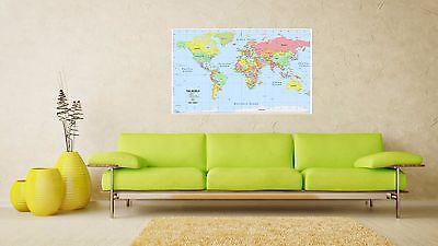 World Map Atlas,Geography,Political Poster Print  A0-A1-A2-A3-A4-A5-A6-MAXI 144 2