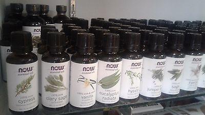 NOW Foods 1oz. Diffuser Burner Topical Essential Oils Improve Mood Health FRESH!