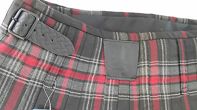 Spirit Of Bruce Modern Black Buckles 8 Yard  Kilt Only Ex Hire £99 A1 Condition 6