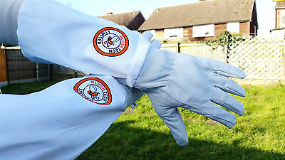 Beekeeper Bee Gloves Beekeeping gloves Goat skin Leather & 100% Cotton MEDIUM 6
