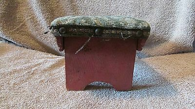 Vintage Padded Small Stool - June 1941  (10 T) 4