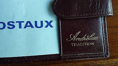 1 sur 3 Portefeuille + Porte chéquier en maroquinerie HOMME cuir bordeaux  ANDRELUX 6792400b6e4