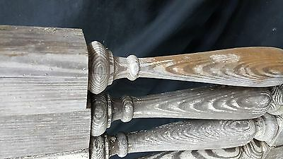 Architectural Salvage 4 Wooden Spindles Balusters 3 Collar Design 3