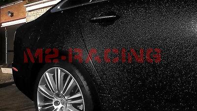 "*24/""x60/"" Premium High Gloss Glitter Black Sparkle Car Vinyl Wrap Sticker Decal"