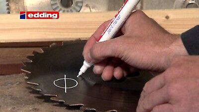 Rotulador Edding Marcador Blanco Permanente Profesional 2 - 4 Mm Modelo 750-049 10