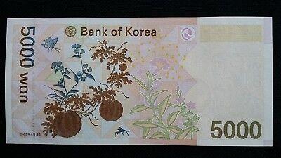 SOUTH KOREA 5000 Won 2006 P55 x 2 Consecutive UNC Banknotes