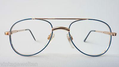 Visiblia Markengestell Kinderbrille Pilotenform Metallfassung frame blau-gold 2