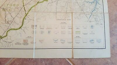 LARGE MARYLAND MAP - HOWARD COUNTY Topography & Election Districts - 1927 5