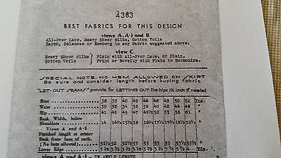 Antique Sewing Pattern-  Butterick # 4383 **1930's** 6