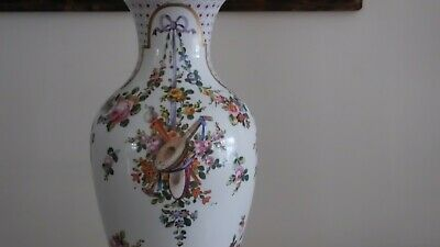 "18th Century 22"" Sevres Urn w/ Musical and Floral Motif. Sevres Mark, Initialed 3"