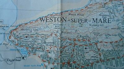 "Rare Ordnance Survey 2.5"" map ST36 Weston Super Mare 1959 Kewstoke Wick St Lawre 4"