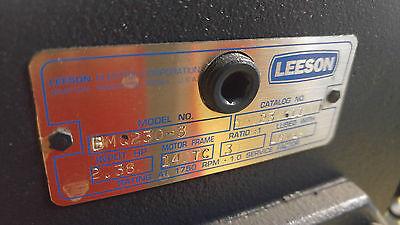 Leeson Bmq230-3 Bmq2303 Bmq 230-3 Gear Reducer