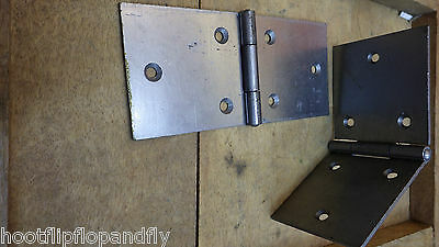 """PAIRS SELF COLOUR STEEL BACKFLAP HINGES 2/"""" 50mm 2 1//2/"""" 65mm  3/"""" 75mm large heavy"""