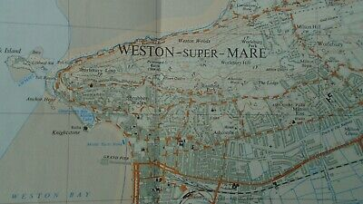 "Rare Ordnance Survey 2.5"" Map ST36 Weston Super Mare 1975 Wick St Lawrence WC&PL 4"