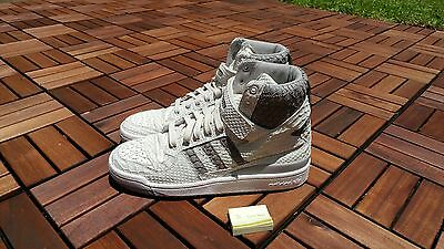 quality design 56b99 17e69 ... Adidas Originals Forum HI OG Chalk WhiteGranite Python Snakeskin  B27671 SZ 10 4