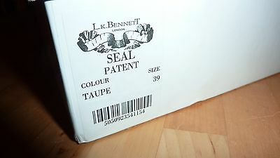 LK BENNETT UK 6 39 TAUPE Patent Beige Heels Peep Toe Courts Shoes LTD FAB RARE!! 12