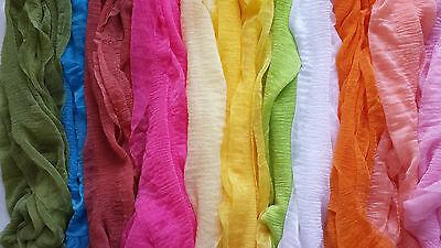 1*Fashion Wrinkle Elegant Ladies Scarf, Many Colours 4