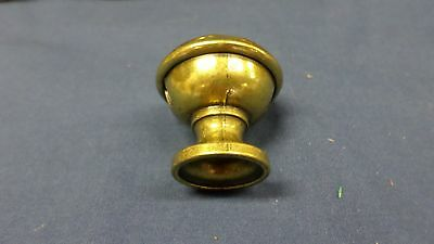 "938M Vtg Set 22 Brass Top Knobs/Pulls/Handles Sweet Heart Pattern 1 3/8"" Diam 11"