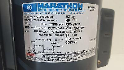 MARATHON 575 56C34D1048 1-1//2HP 115//208-230VOLTS 3450RPM 56FRAME 1PH