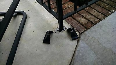 2 Wrought Iron Handrail Stair Rail Post Covers Bases Shoes