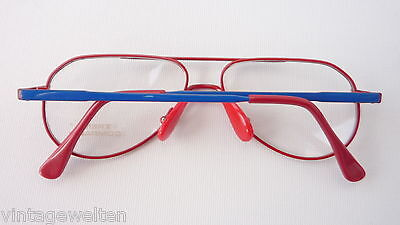 Trend Company Kinderbrille unisex blau rot Federbügel preiswert günstig neu 4