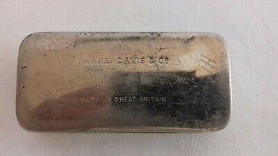 Seltene schwere antike Parke Davis & Co Made in Great Britain Tin Dose 2