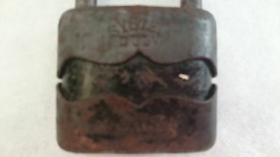 Vintage Solid Cast Iron Padlock System Dulv №35L No Key 5