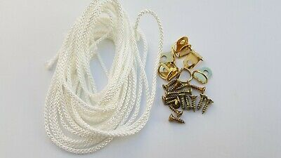 Picture Frame D Rings + Screws With Cord Brass Canvas Hooks Hanger Multi Listing 6