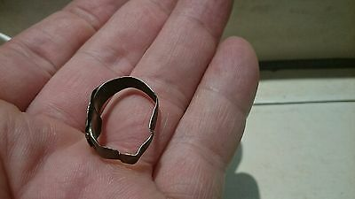 Lovely Roman crude Silver ring 2.46g 3