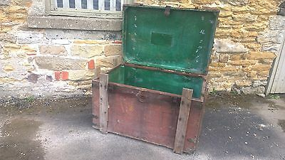 Antique Military Trunk Box Chest Army Military,Table-Theme Pub-Stage Prop 7