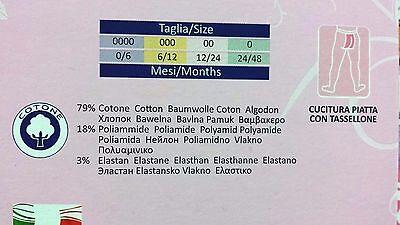 3 Collant Vignoni Caldo Cotone 100% Elasticizzato Per Neonati Made In Italy 2