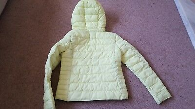 Zara girls winter outerwear age 11-12 lime puffa 3