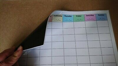A4 Weekly Planner + marker w/ eraser (Daily-time schedule, magnetic, laminated) 2