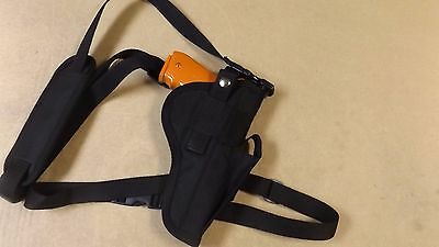 RIGHT HAND DRAW Bandoleer / Shoulder CHEST Holster for GLOCK 40 MOS w/ Red  Dot