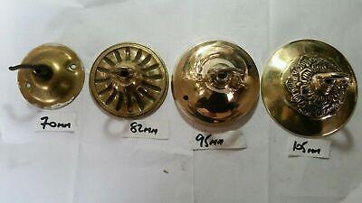 ANTIQUE CEILING ROSE 98mm chandelier hook COPPER on Iron c1910 unpolished 6