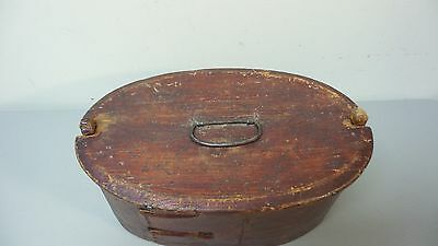 NICE 19TH CENTURY HAND MADE WOODEN NORWEGIAN BRIDE'S BOX PAINT, dated 1824 2