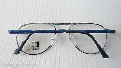 Kuhlmey Kana blaue Kinderbrille Metallfassung Federbügel Pilotenbrille lunettes 4
